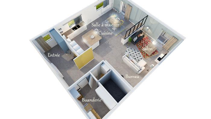 Projet r habilitation appartement c line vekemans cevek design architecte d 39 interieur grenoble - Architecte d interieur grenoble ...